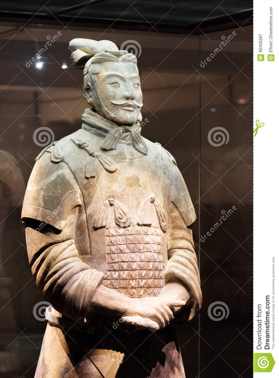 High-ranking officer of the Terracotta Army, Xi`an, China