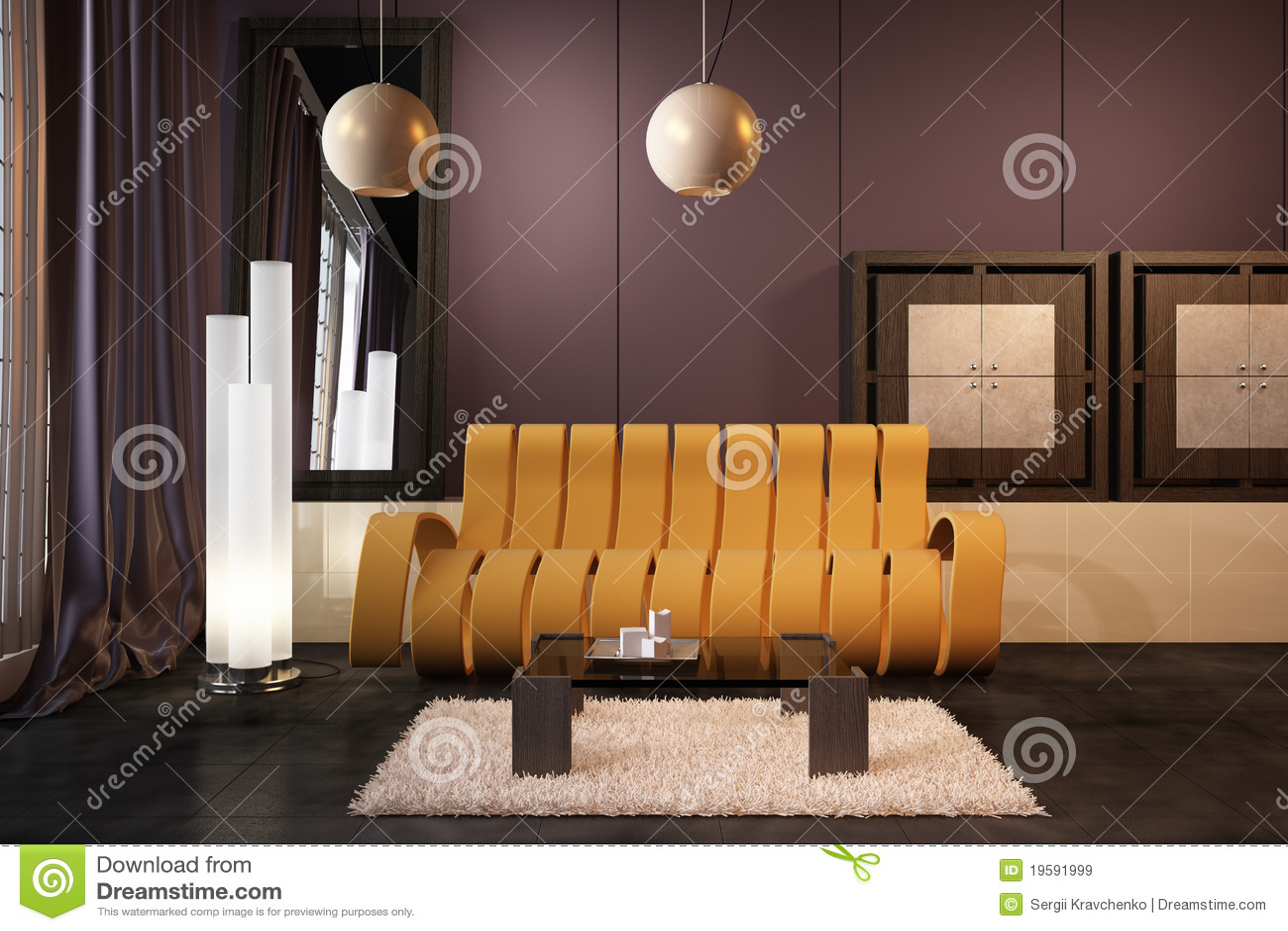 High resolution 3d render interior stock illustration for High resolution interior images