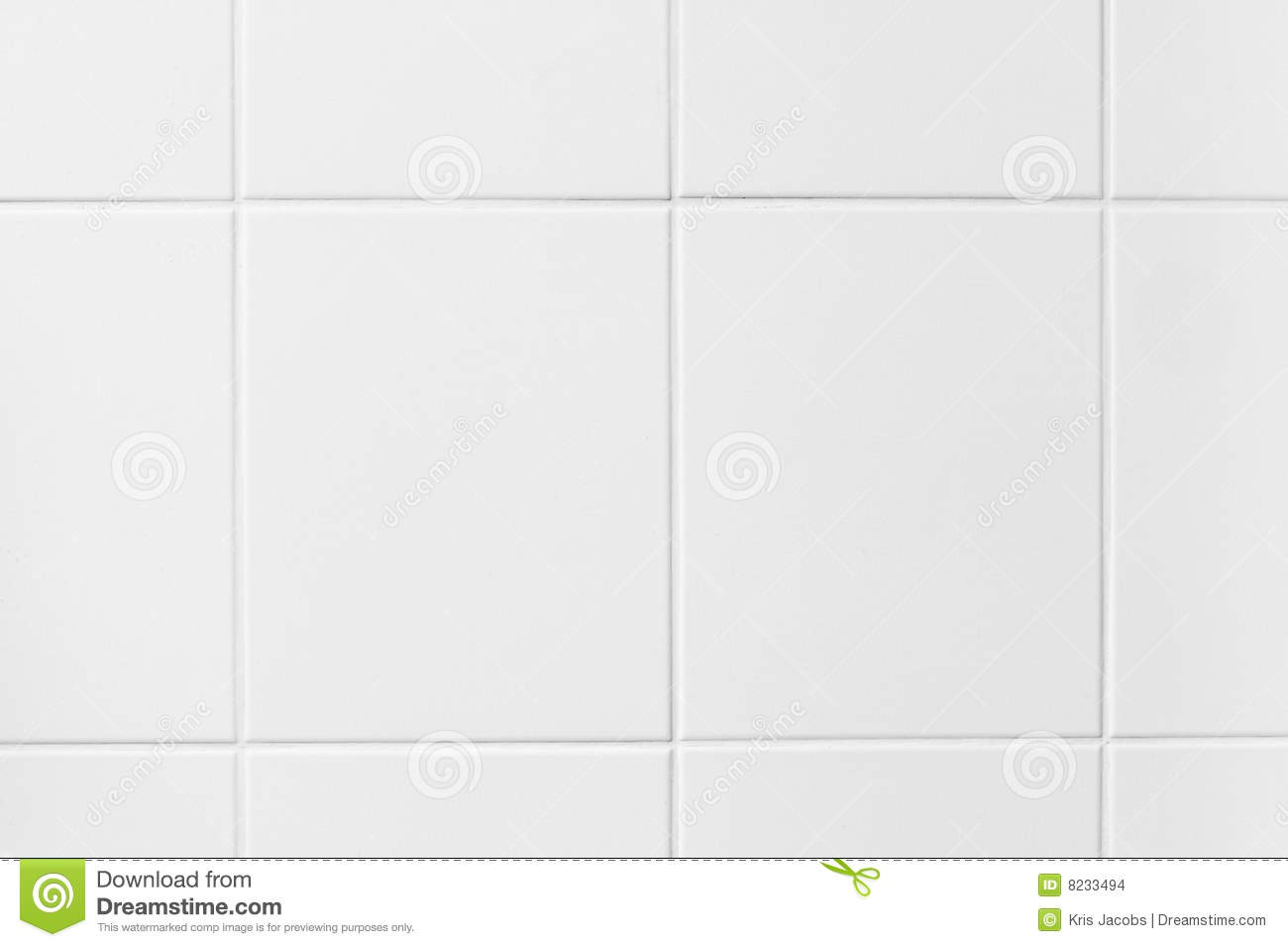 High Resolution Background Of White Tiles Stock Photo