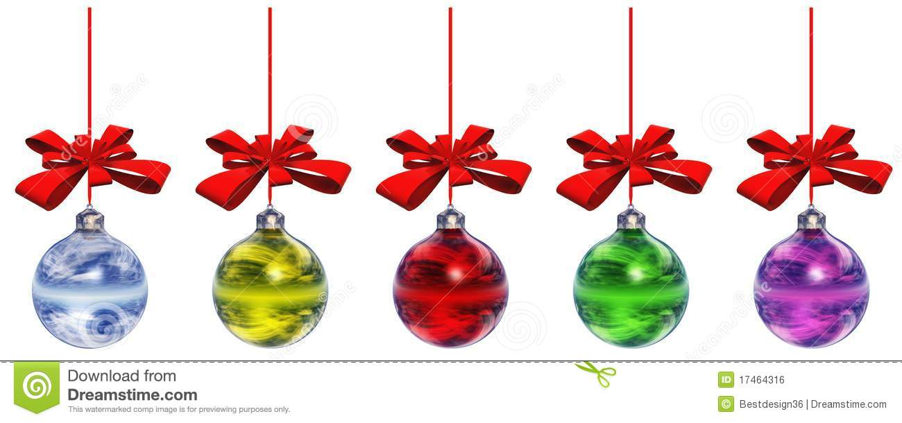 High resolution christmas ornaments royalty free stock