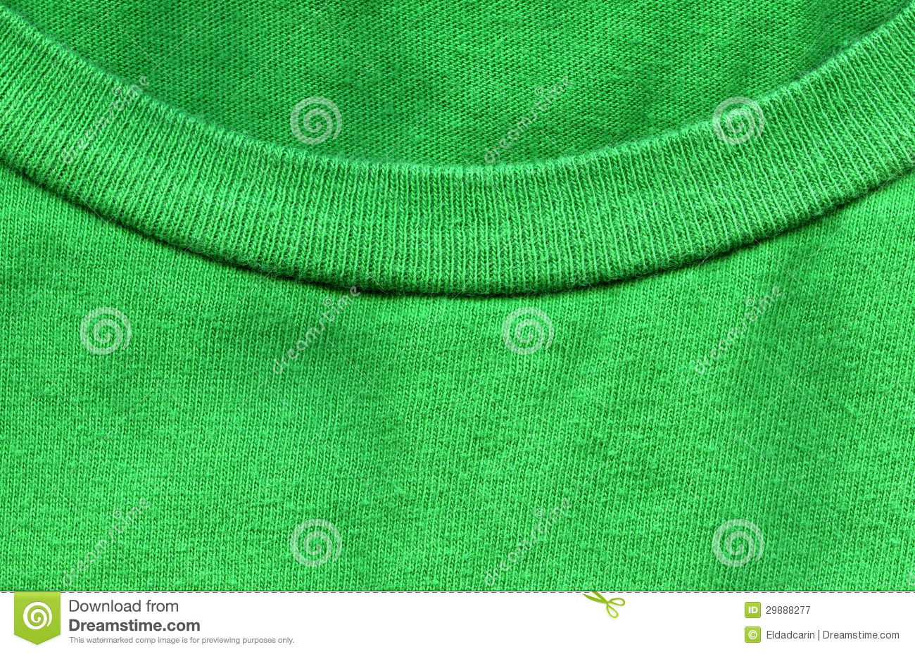 Cotton Fabric Texture Bright Green With Collar Royalty