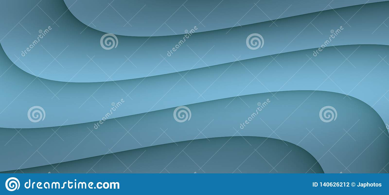 High resolution smooth flowing curves abstract background illustration in shades of grayish steel blue