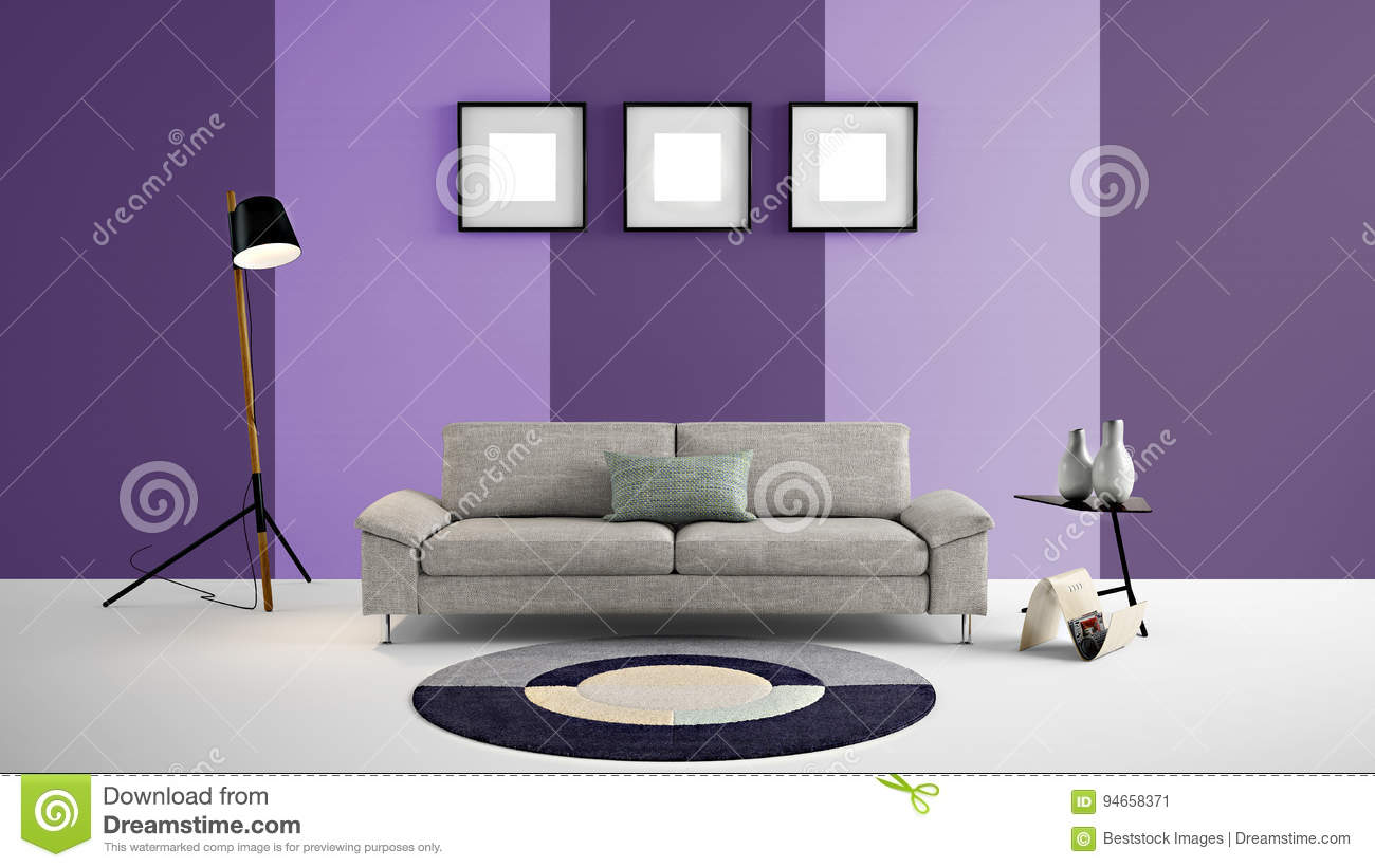 dark purple furniture. Download High Resolution 3d Illustration With Light Purple And Dark Color Wall Background Furniture