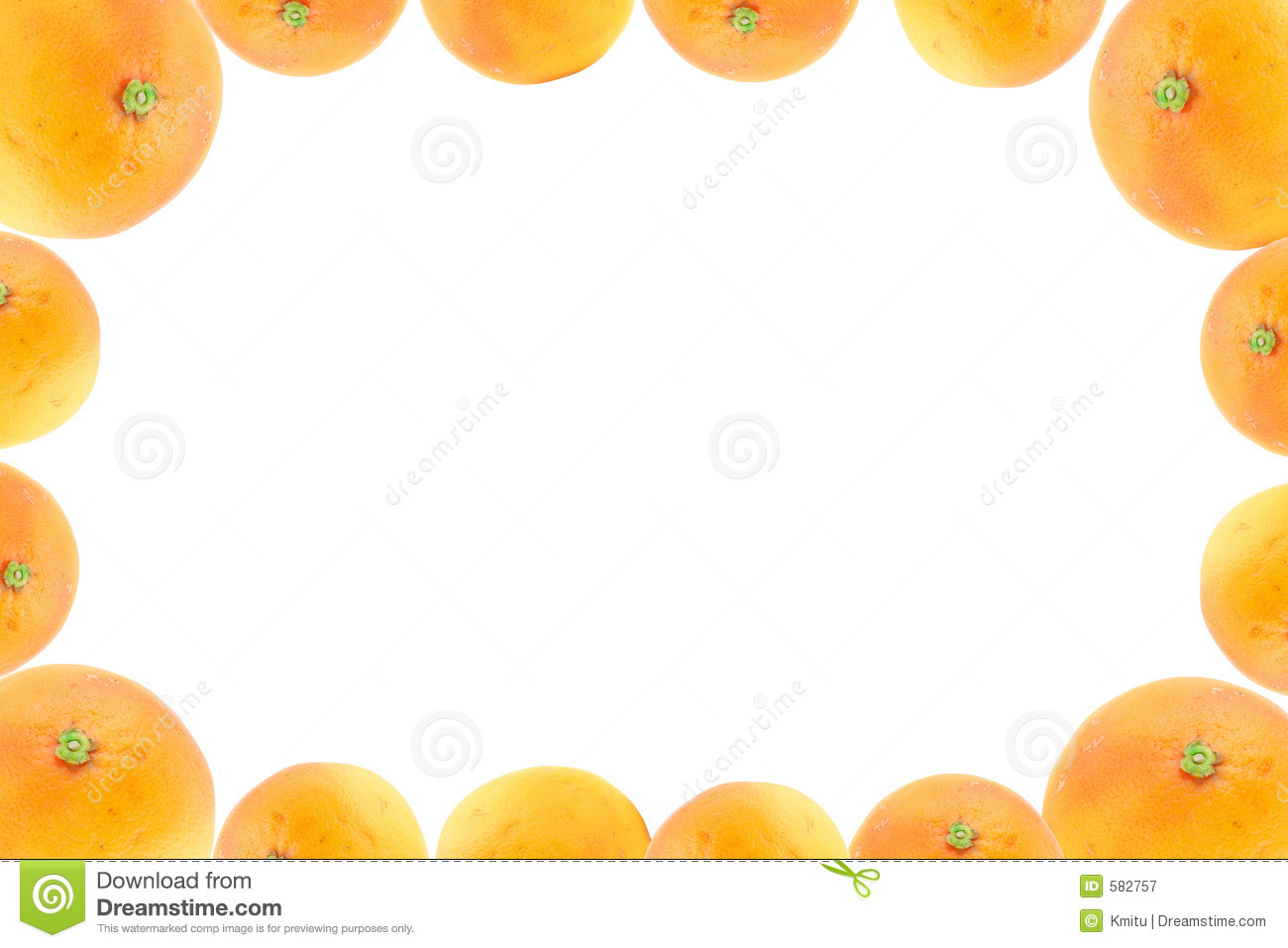 High Resolution Frame Decorated With Orange Fruits Stock Image ...
