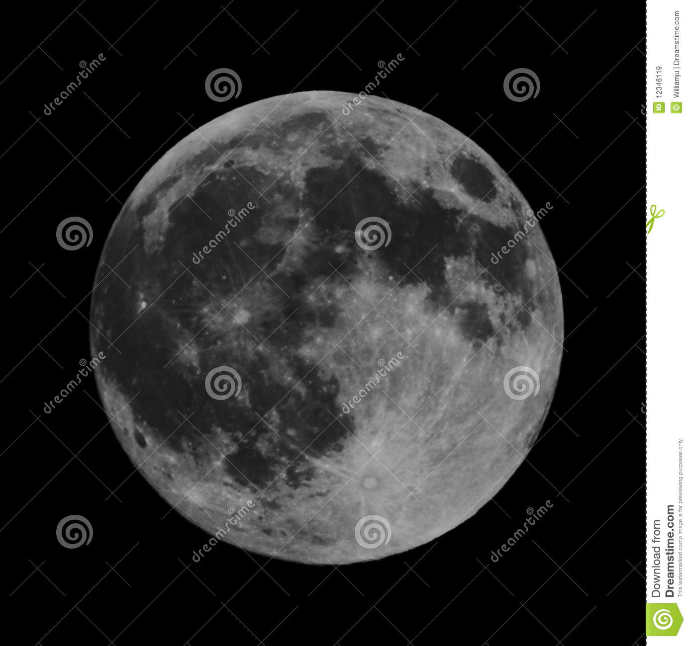 High Resolution Full Moon Royalty Free Stock Images