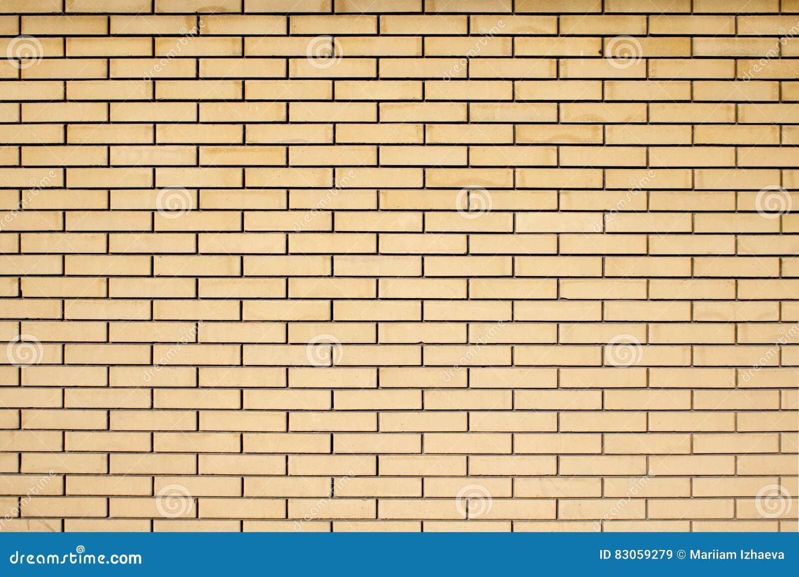 High Resolution Texture Of A Yellow Brick Wall. Laying Horizonta ...