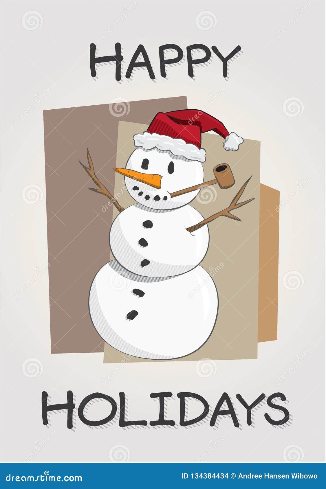 High Resolution Vector Christmas Snowman Stock Vector