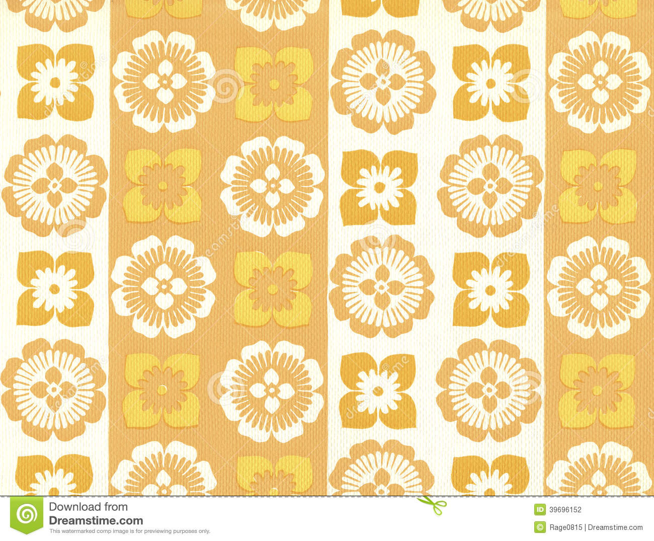 High Resolution Wallpaper With Floral Pattern Stock Photo Image