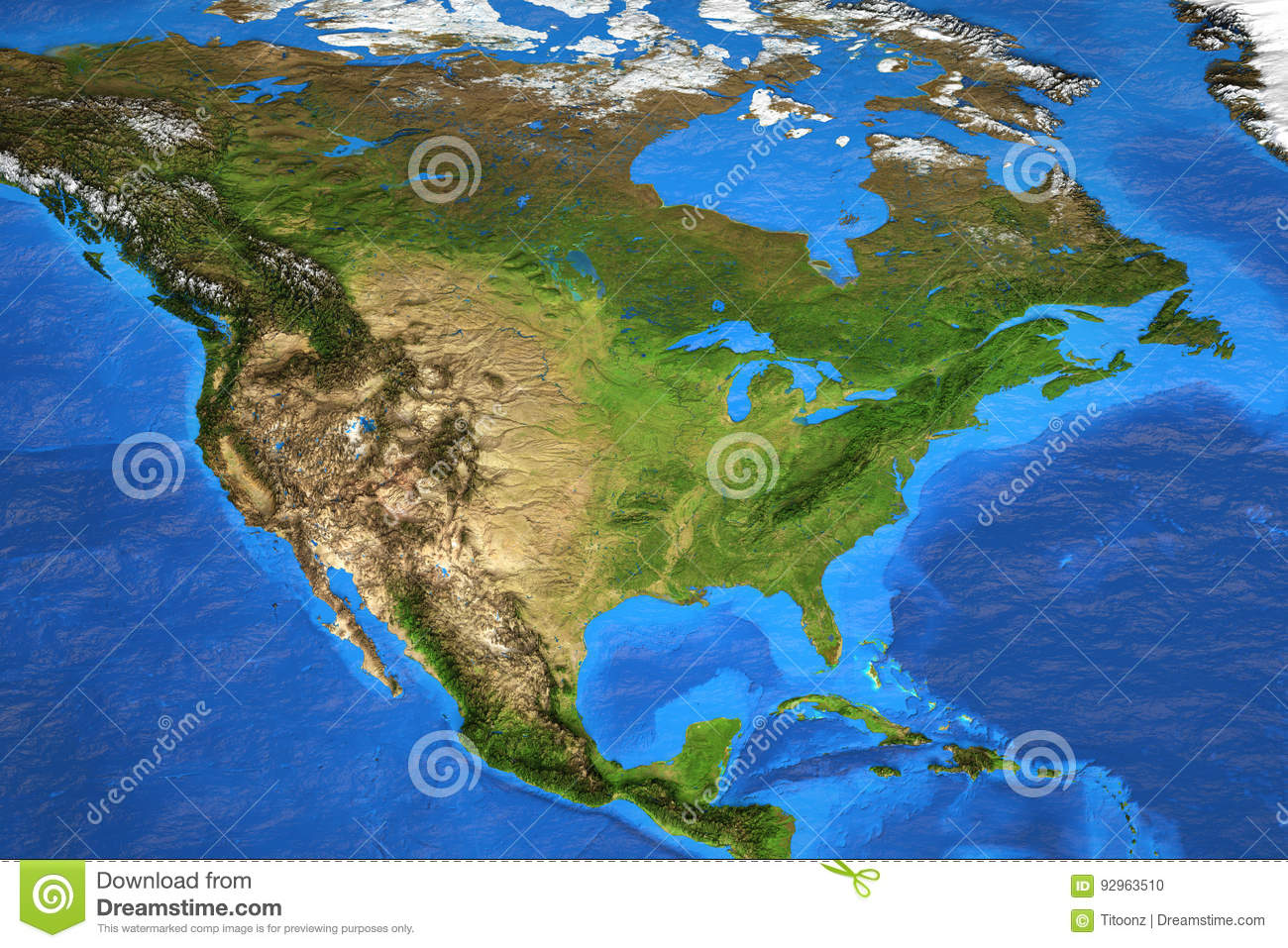 High resolution world map focused on north america stock photo royalty free stock photo gumiabroncs Images