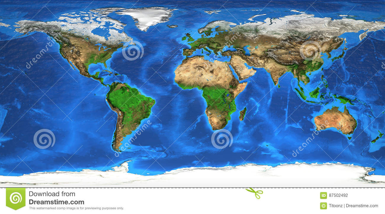 High resolution world map and landforms stock photo image of royalty free stock photo gumiabroncs Choice Image