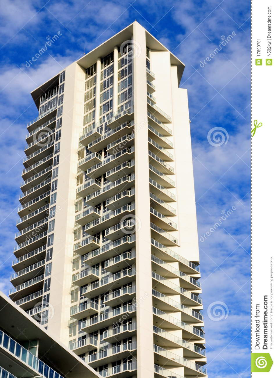 High Rise Apartments Stock Image Image 17899781