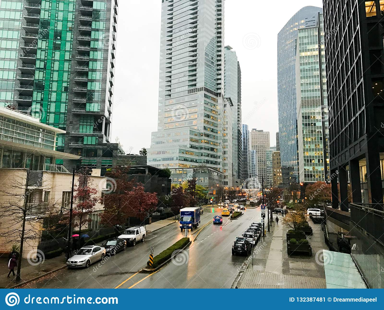 High Rise Apartments In Downtown Vancouver, BC Editorial ...