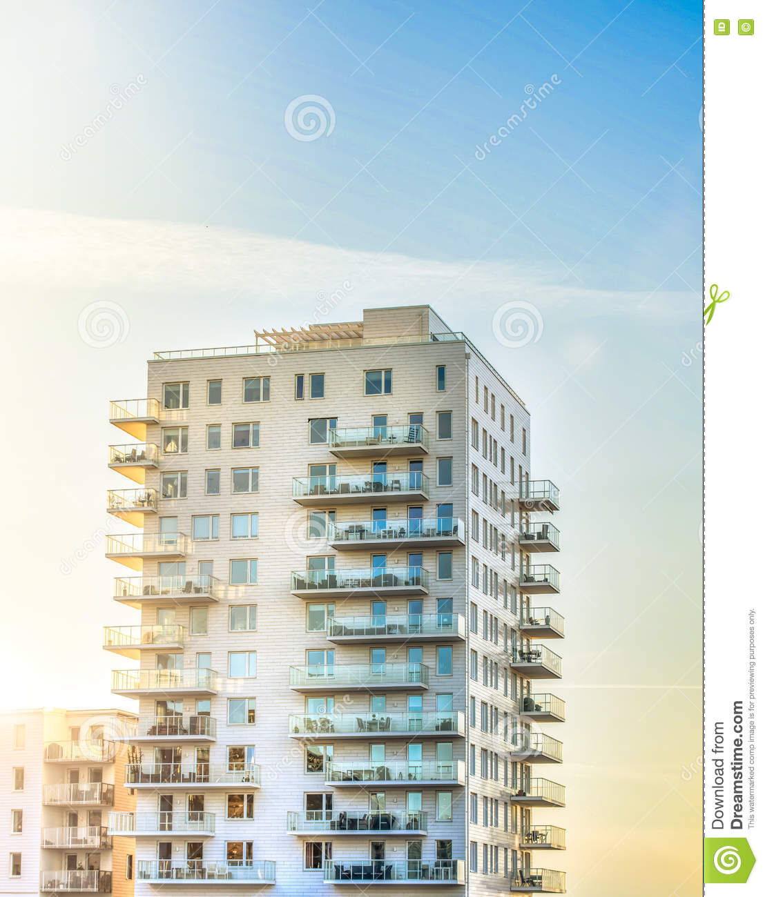 High Rise Apartments Stock Image. Image Of Balcony, Mist