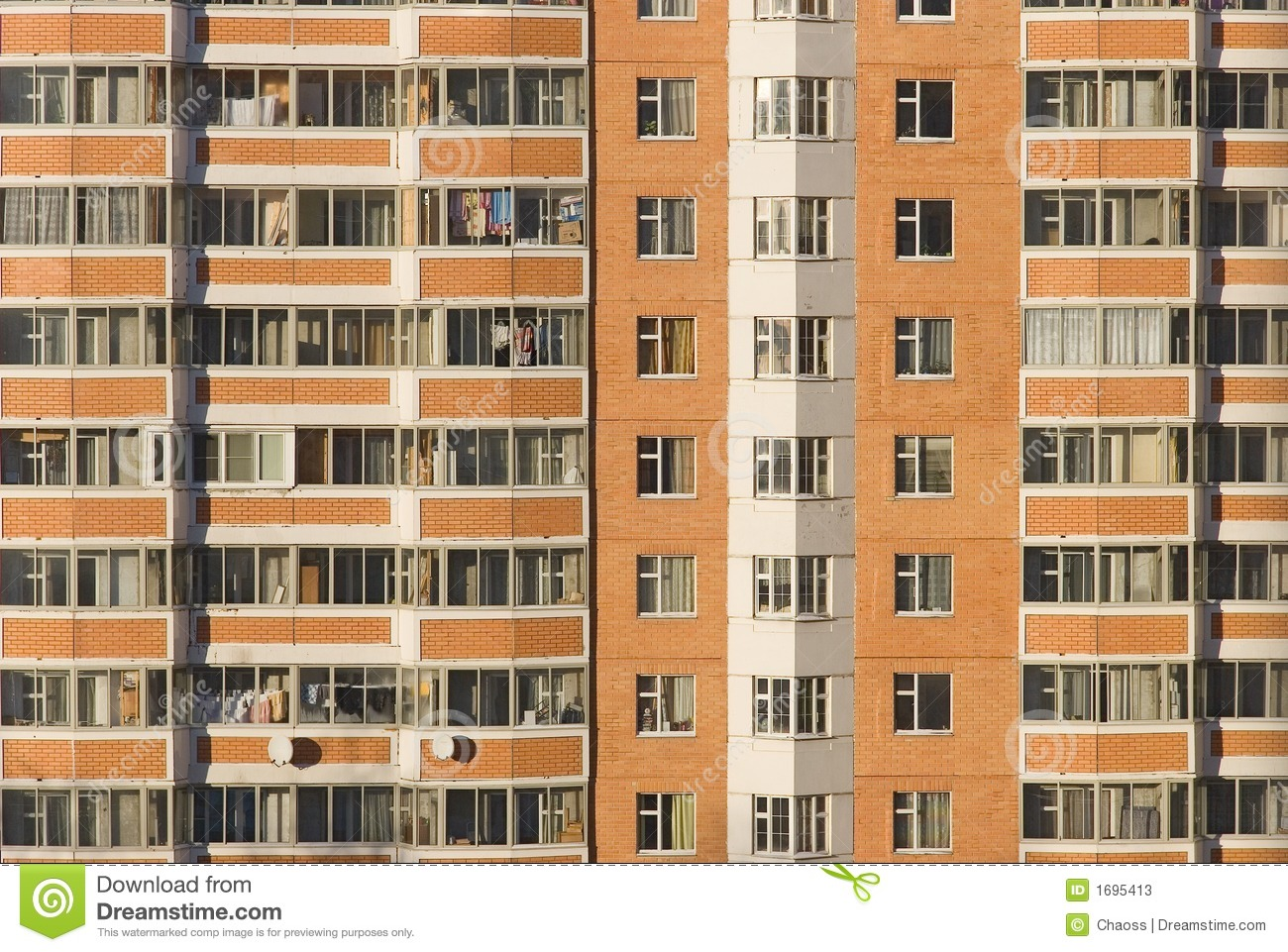 High rise building front view stock image image of for Exterior view of building