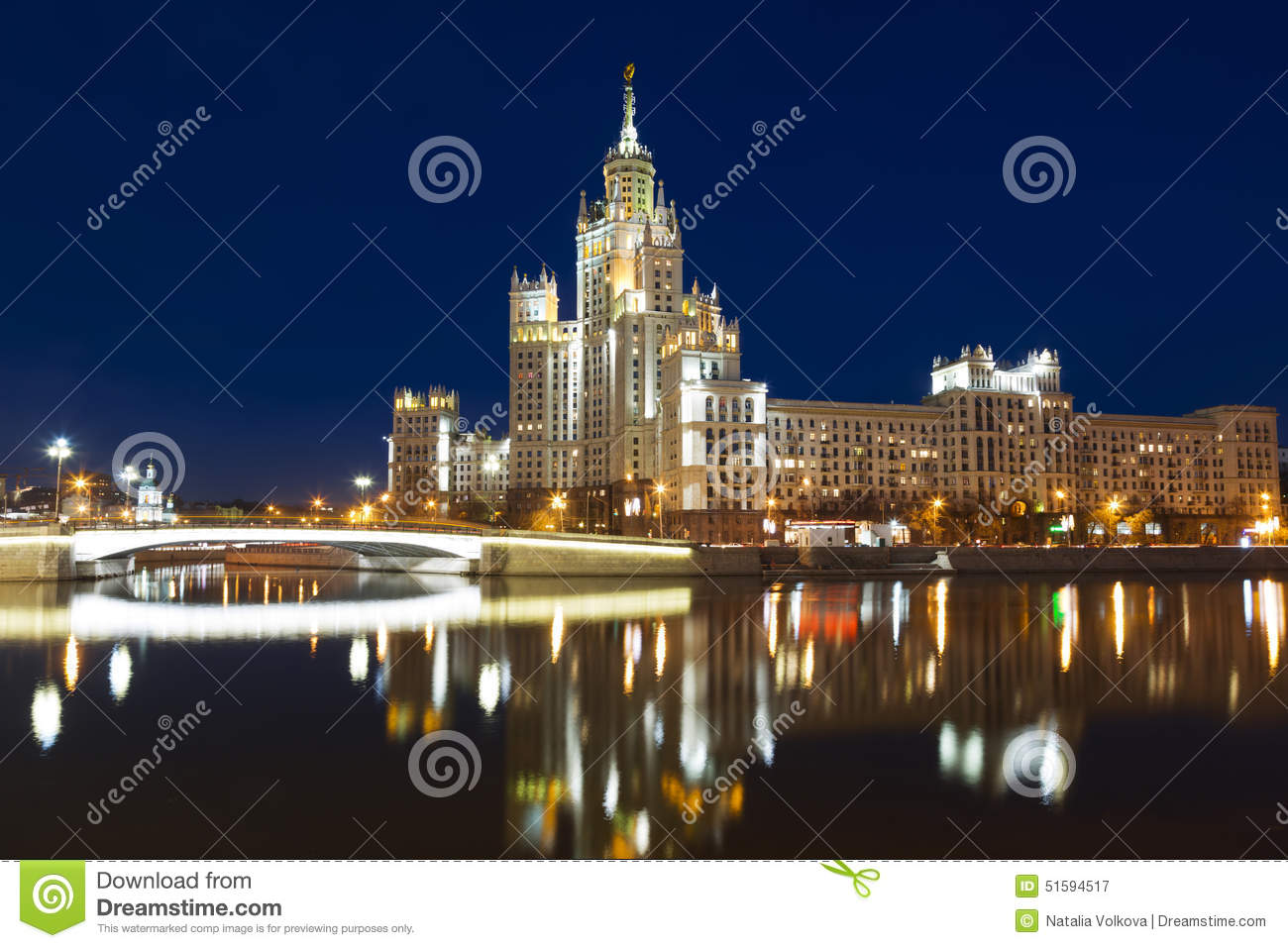High-rise building on Kotelnicheskaya embankment in Moscow