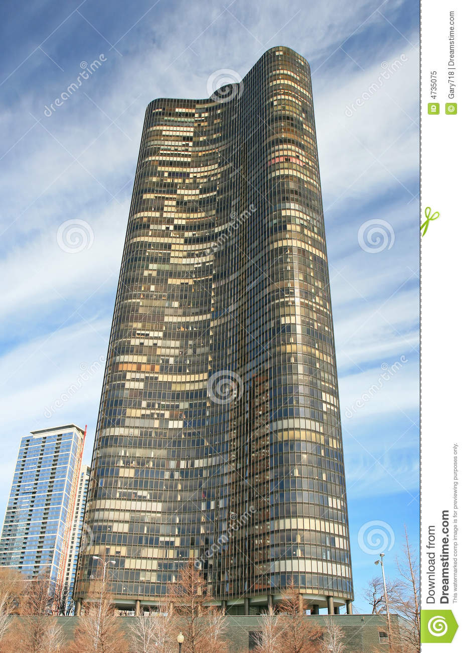 Chicago High Fashion Editorial: The High-rise Buildings In Chicago Stock Image