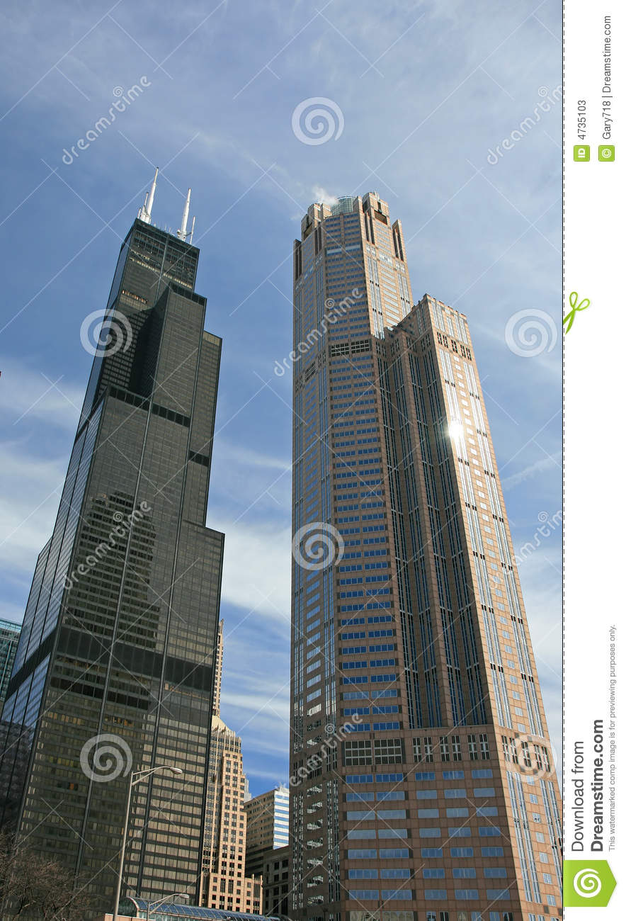 The High-rise Buildings In Chicago Stock Photos - Image ...