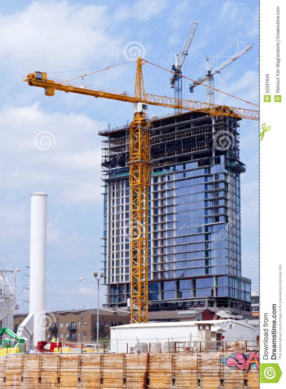 high rise construction project editorial photo