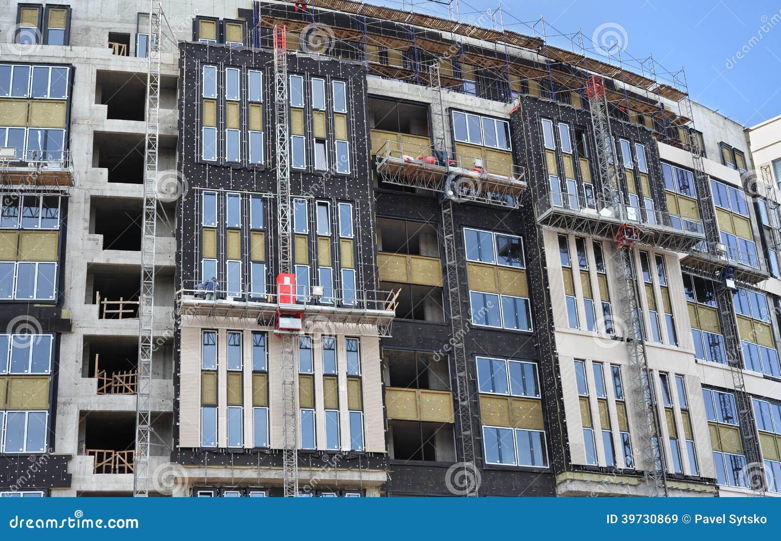 High rise de bouw in aanbouw met het waterdicht maken en for Huis waterdicht maken