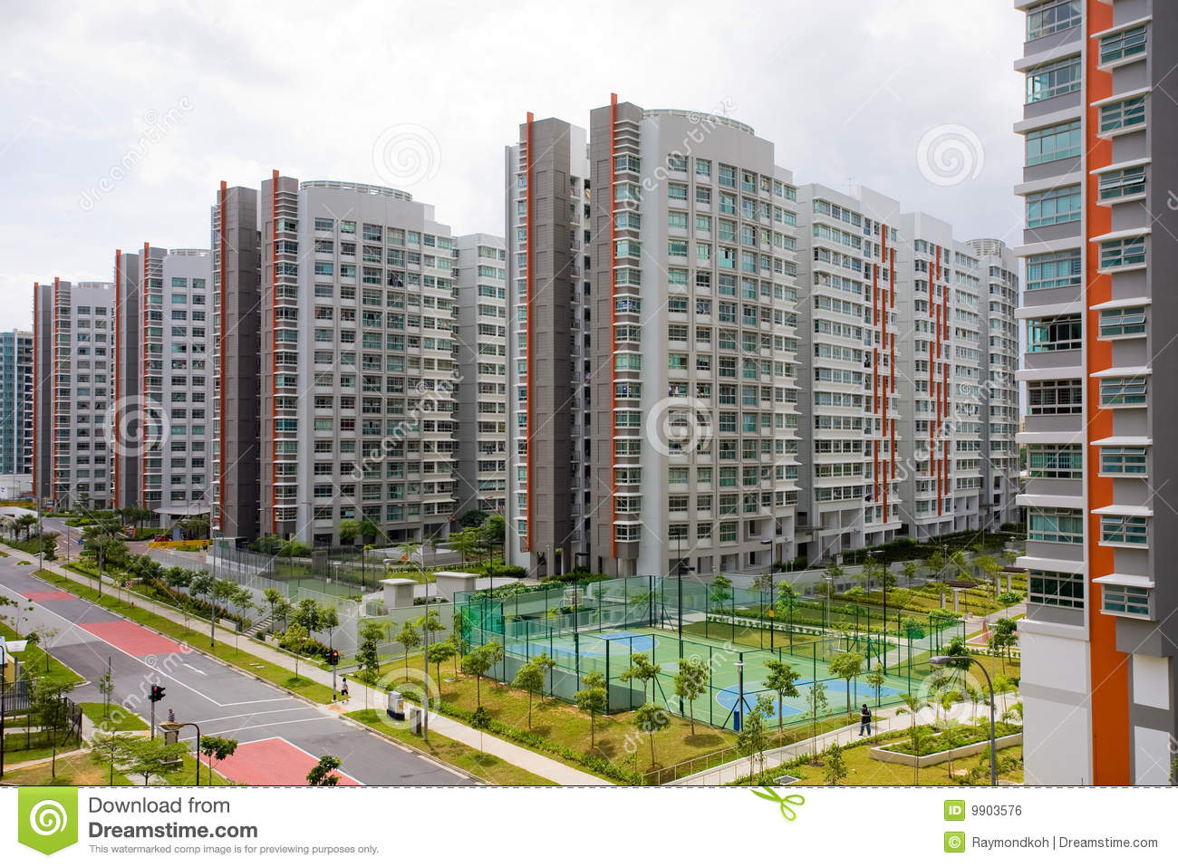 High Rise Hdb Apartments Royalty Free Stock Image Image