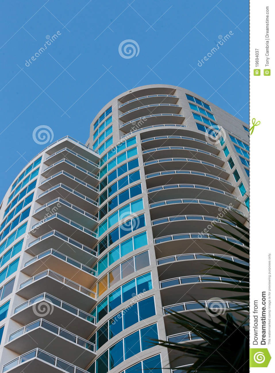 High Rise Living And Dining Room: High Rise Living. Royalty Free Stock Photography