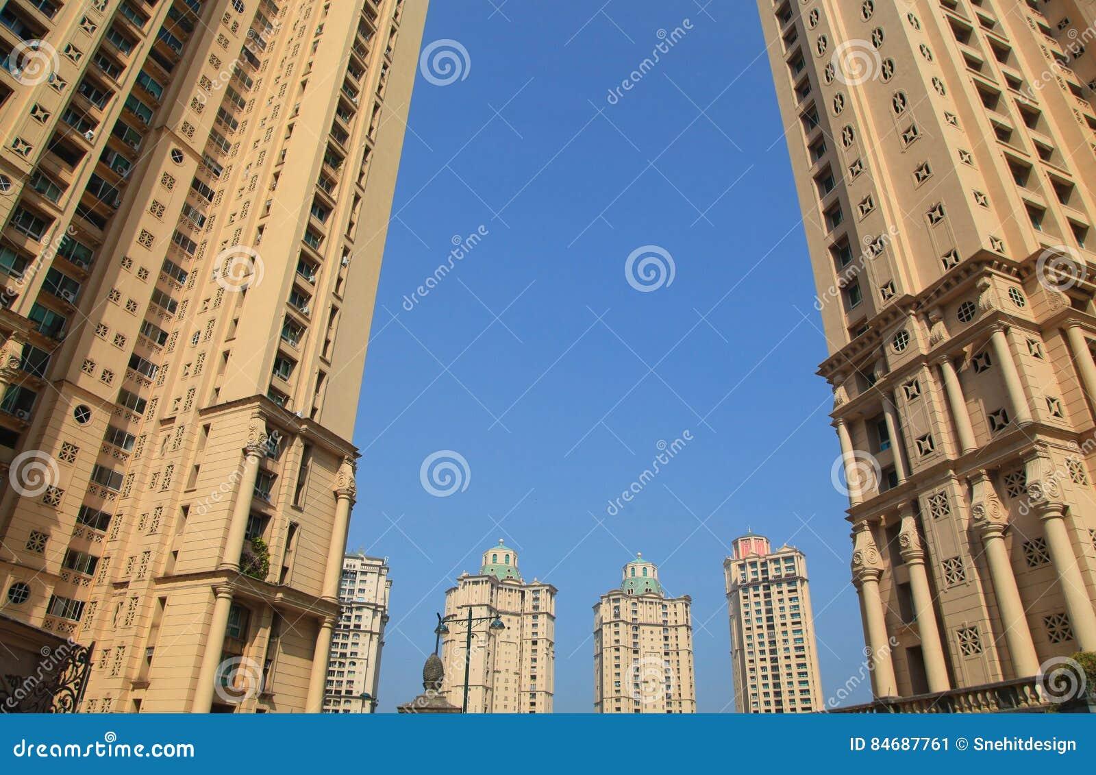 high rise modern residential buildings in mumbai stock image image