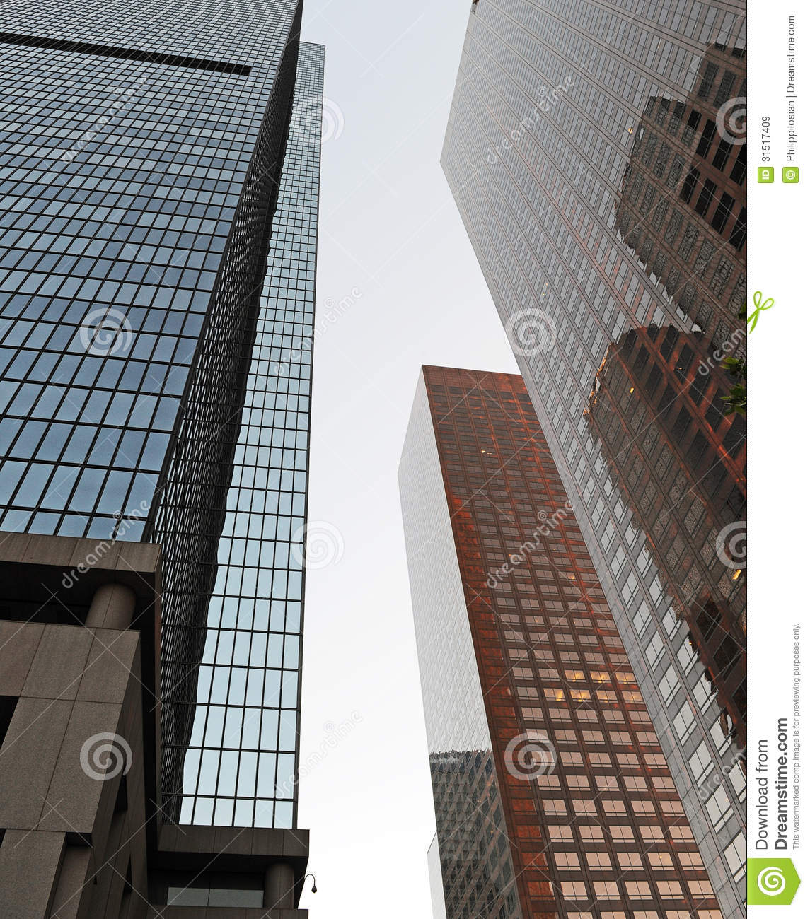 High Rise Office Buildings Stock Image. Image Of City