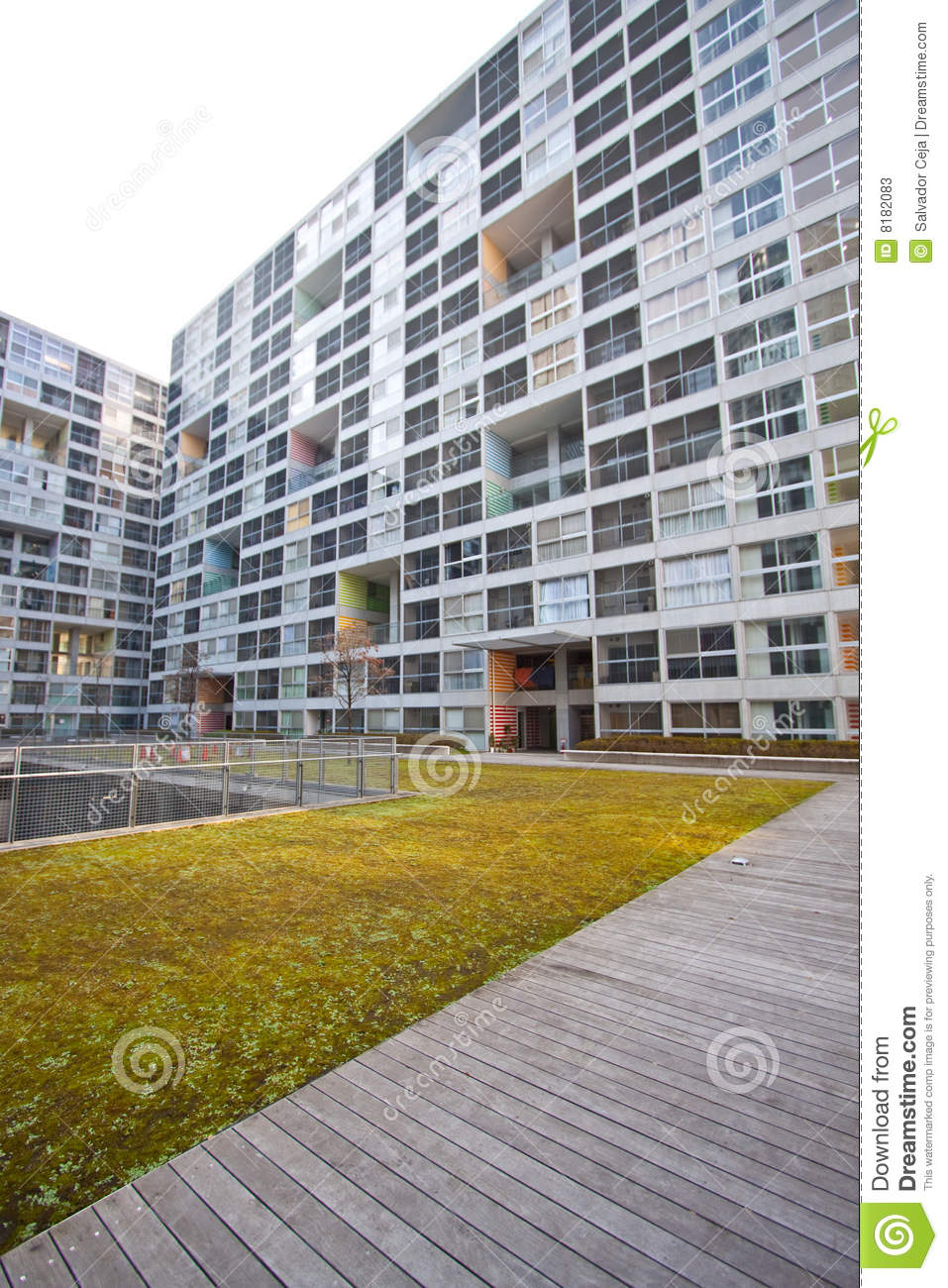 Apartment Building Courtyard high rise residential courtyard stock photos - image: 8182083