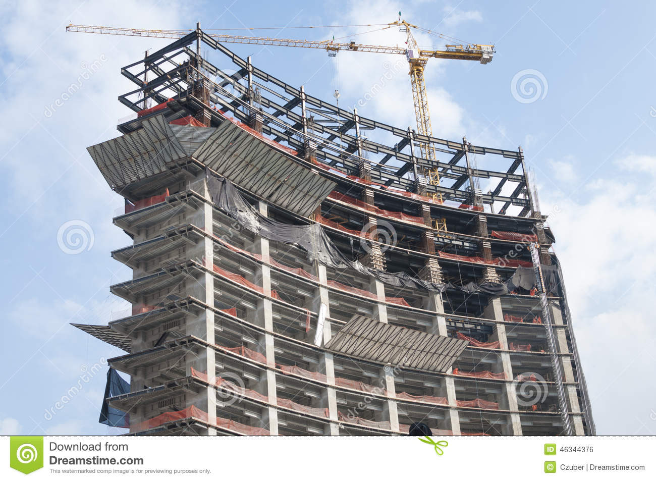 High rise under construction stock photo image 46344376 for Build best construction