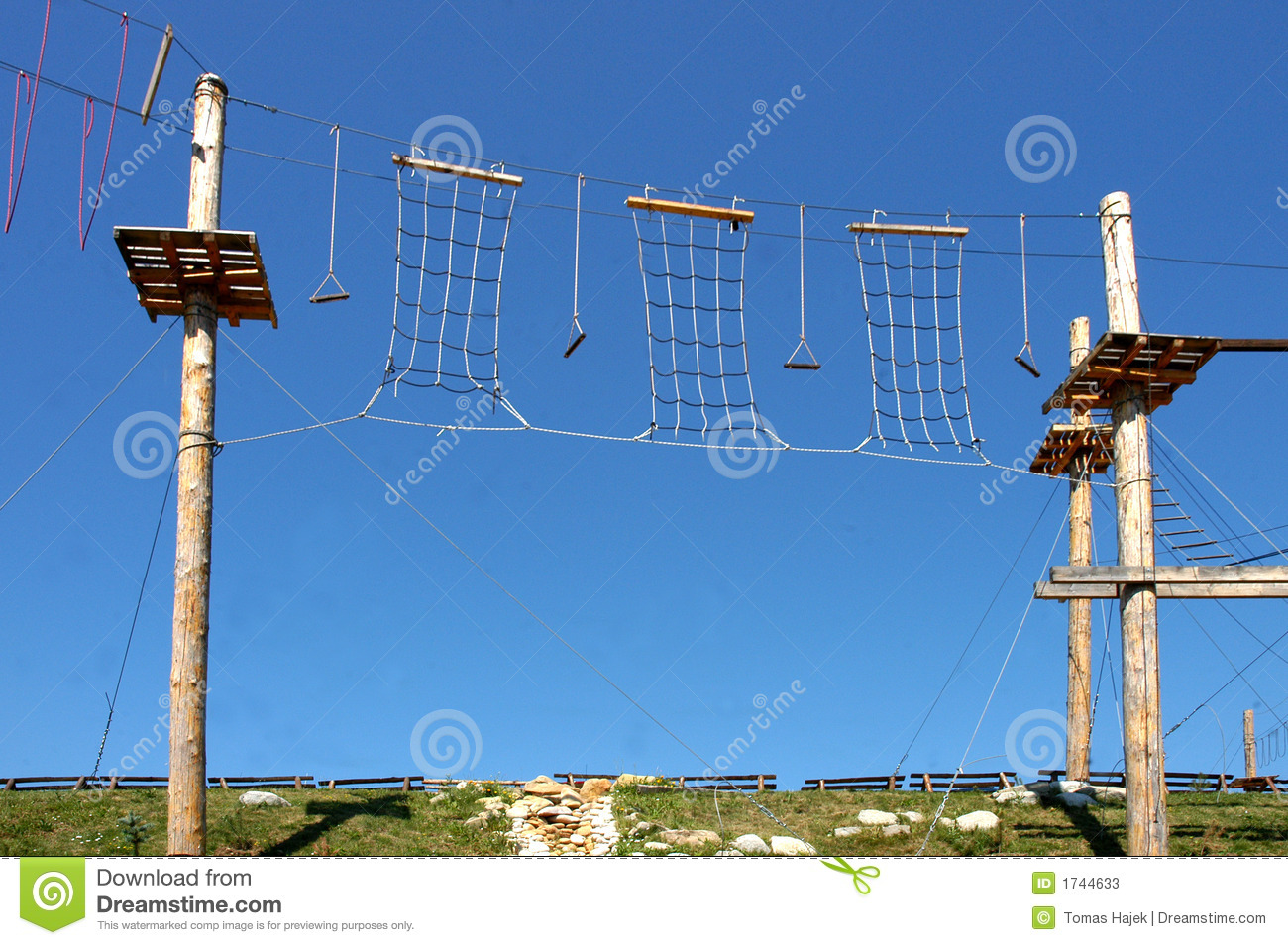 High Rope Challenge Stock Photos Image 1744633