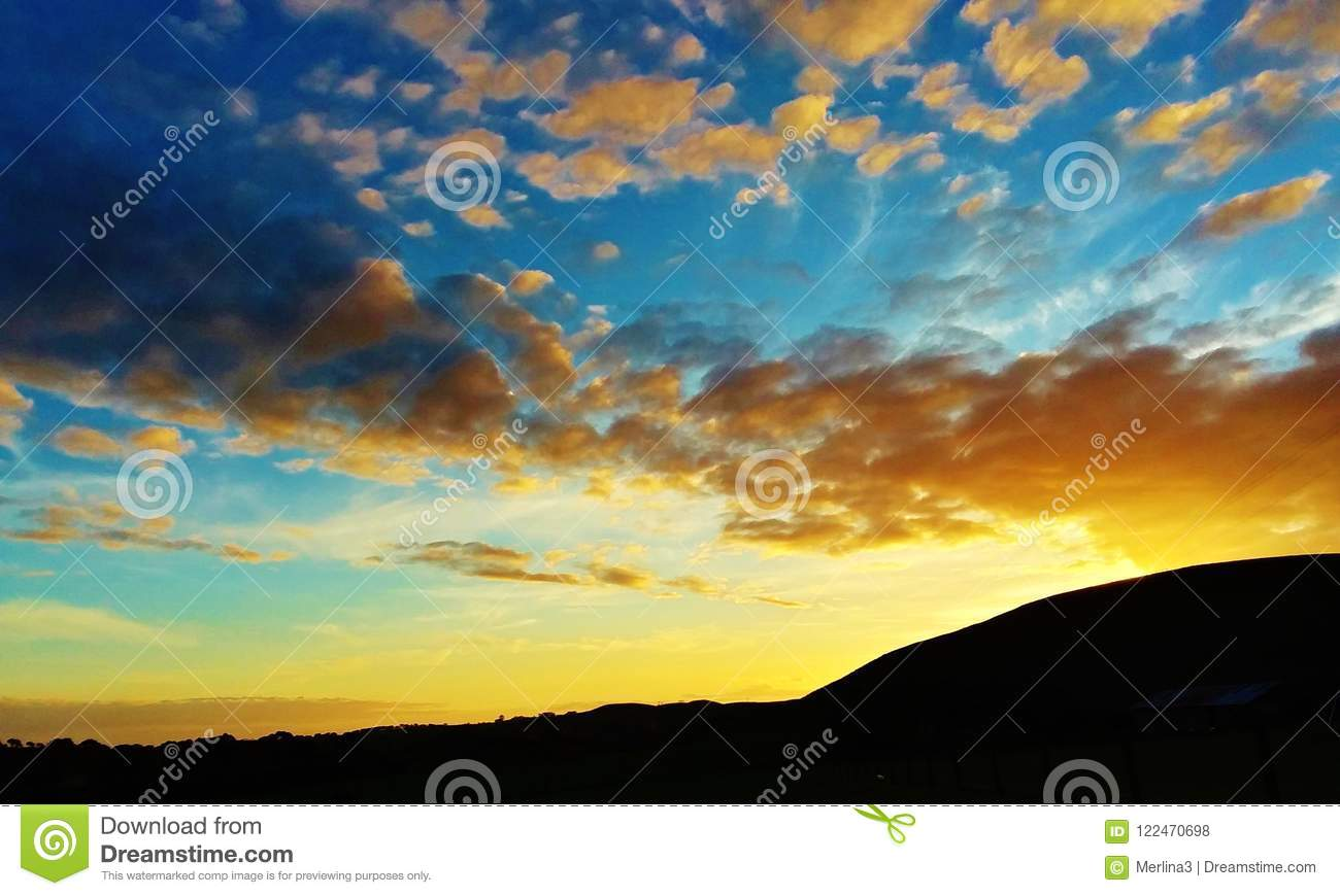 High Saturated Sunset 2 Stock Photo Image Of Saturation 122470698