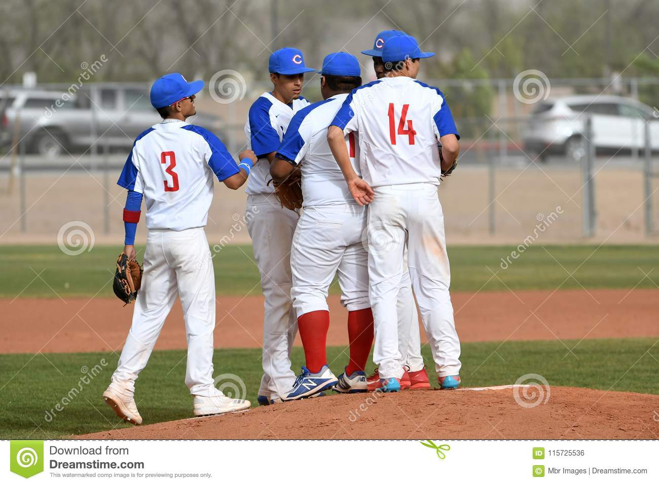 High School Baseball editorial photo  Image of players - 115725536