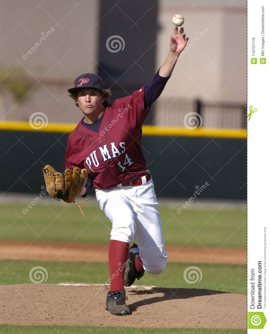 High School Baseball editorial stock image  Image of pitcher - 116757119