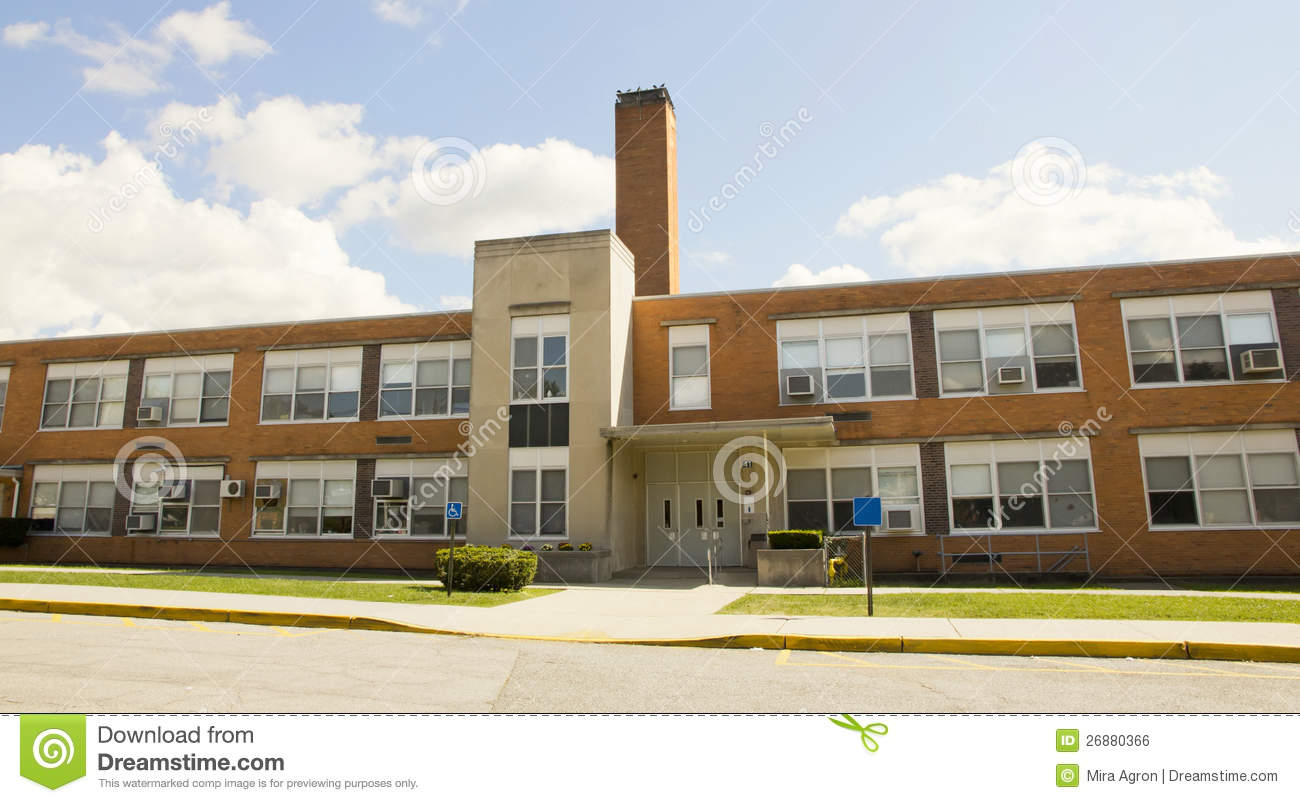 High school building royalty free stock image image for Old school house plans