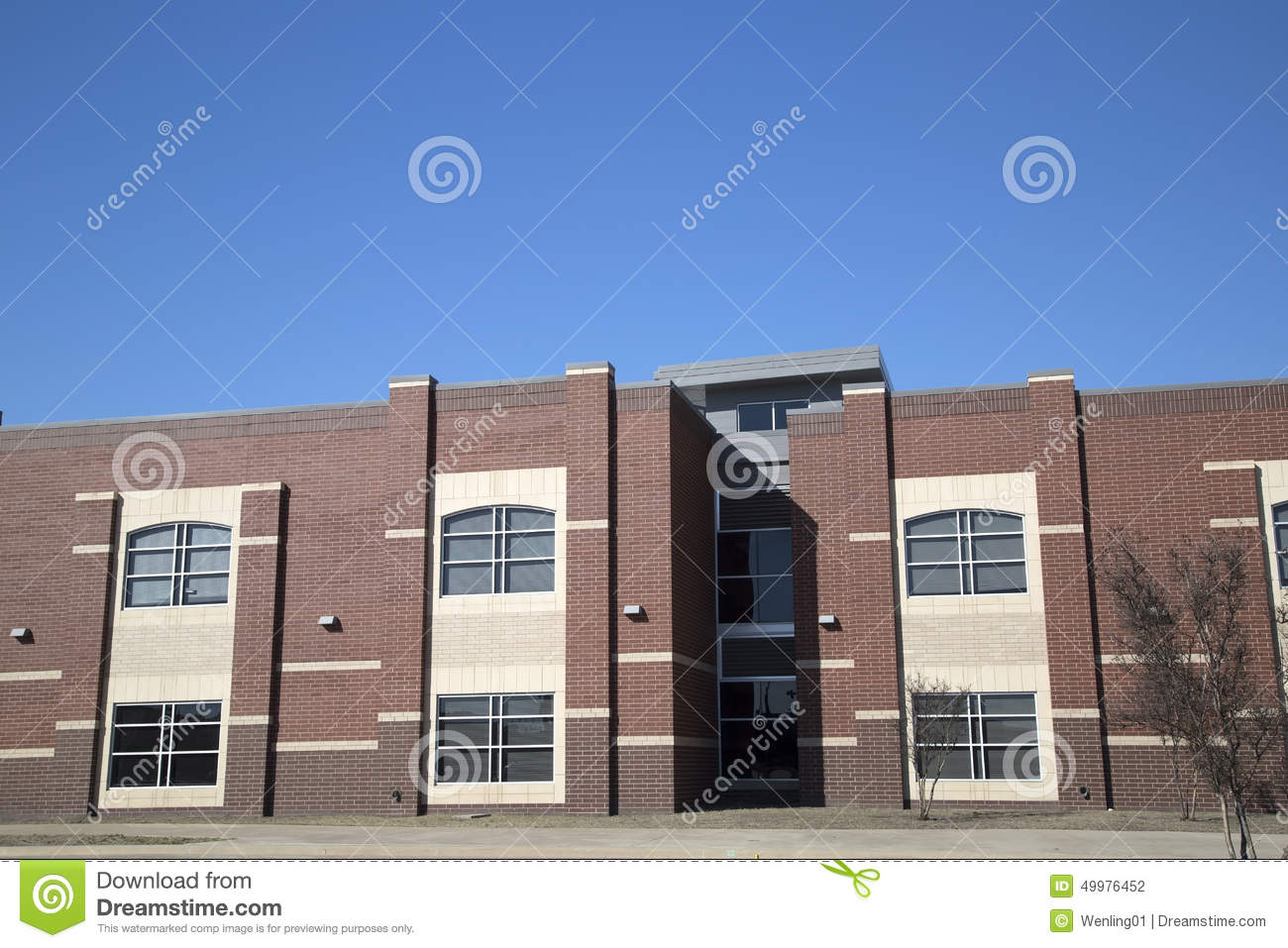 Modern Classroom Vector ~ High school building stock photo image