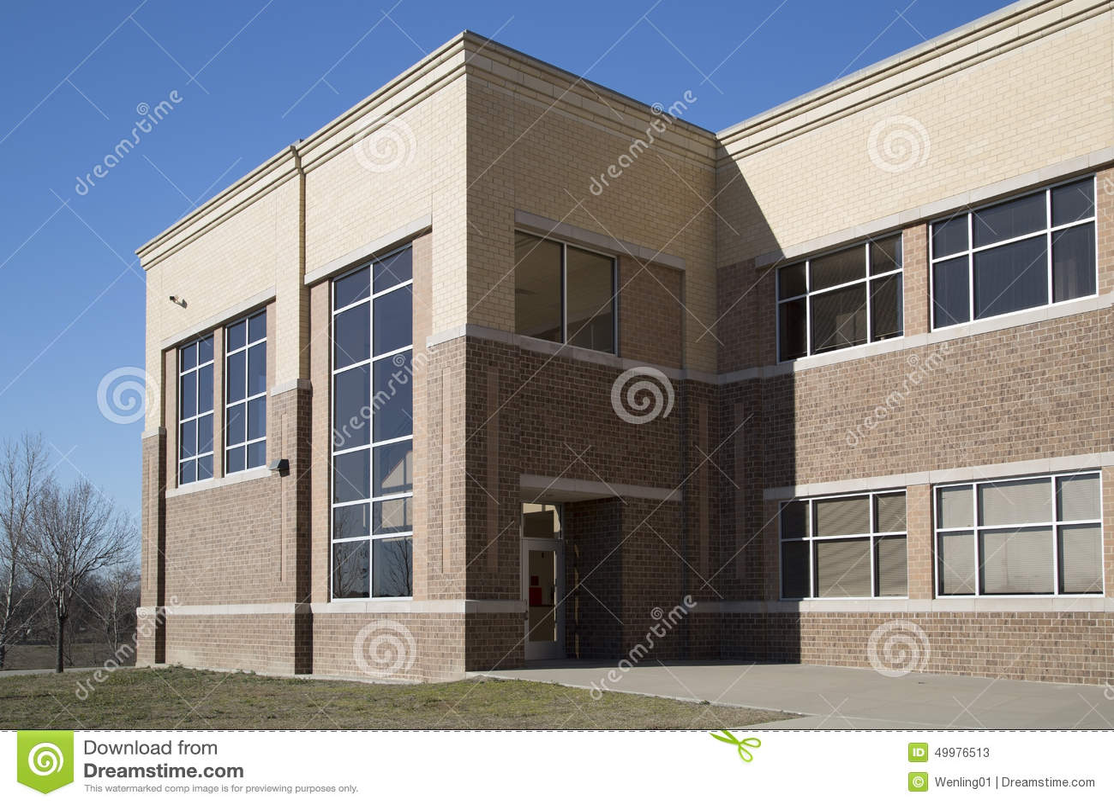Modern High School Classroom ~ High school classroom background stock photo image