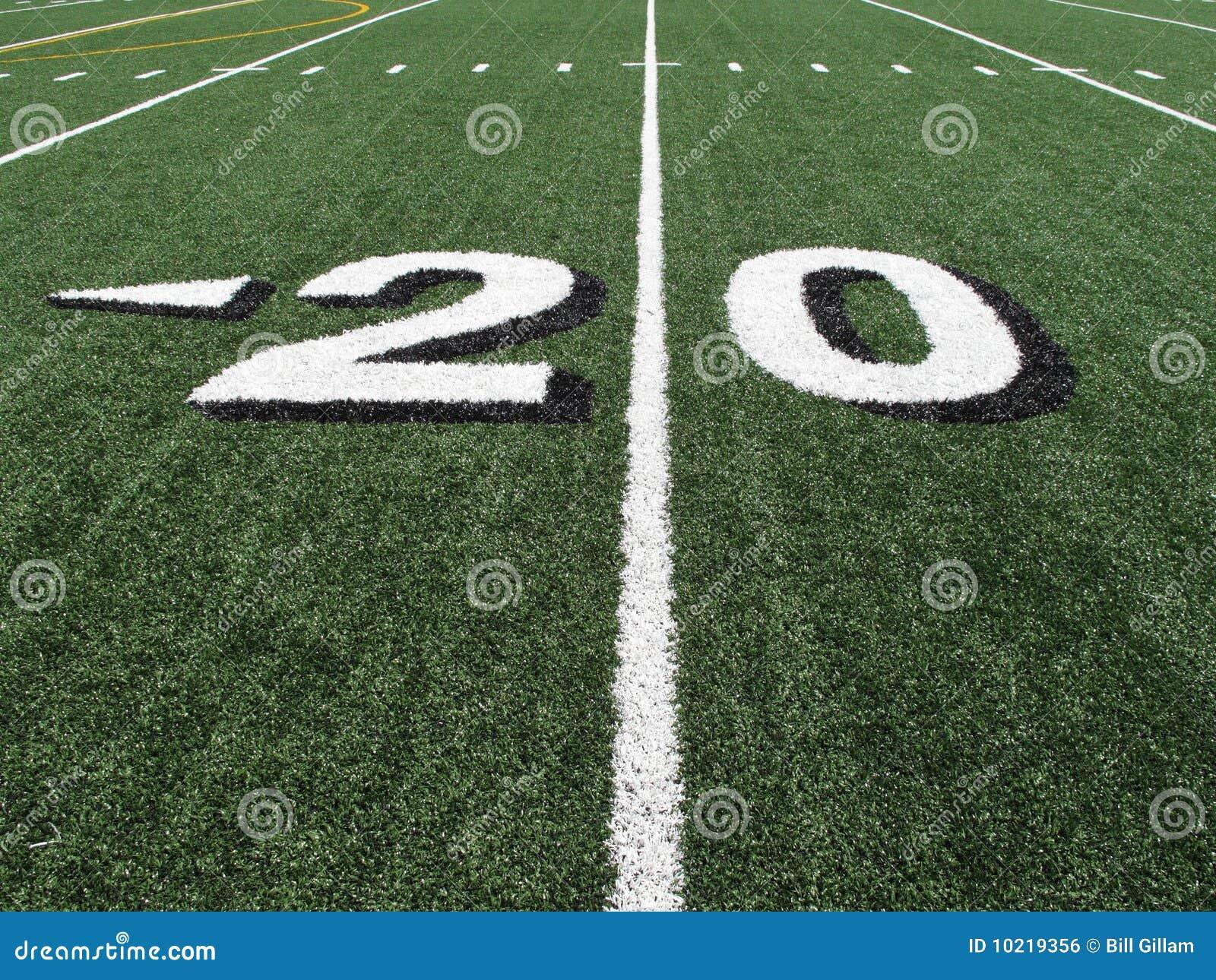 High School Football Field Yardage Marker Stock Photo Image Of