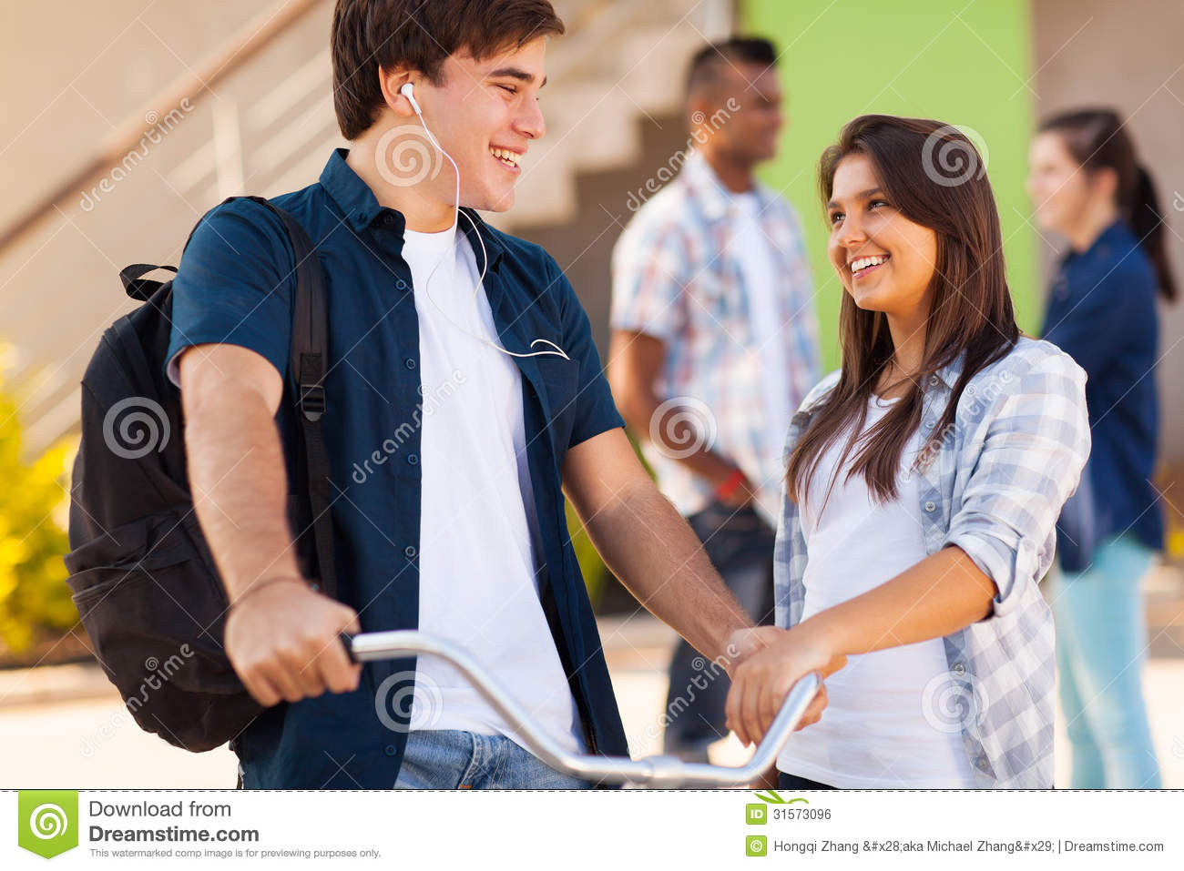 High School Friends Royalty Free Stock Image - Image: 31573096