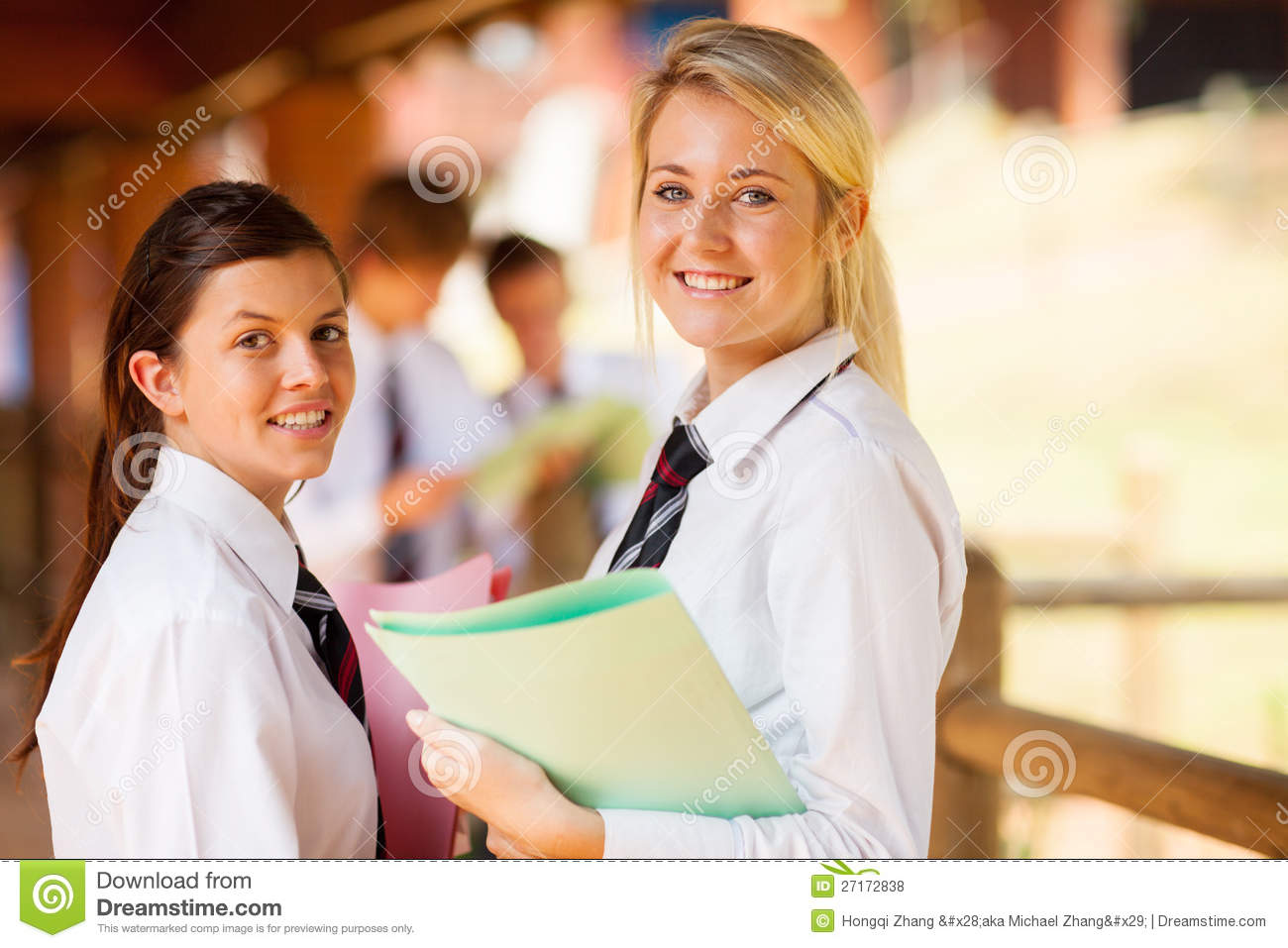 High School Girls Stock Photo Image Of Blond, Passage - 27172838-9224