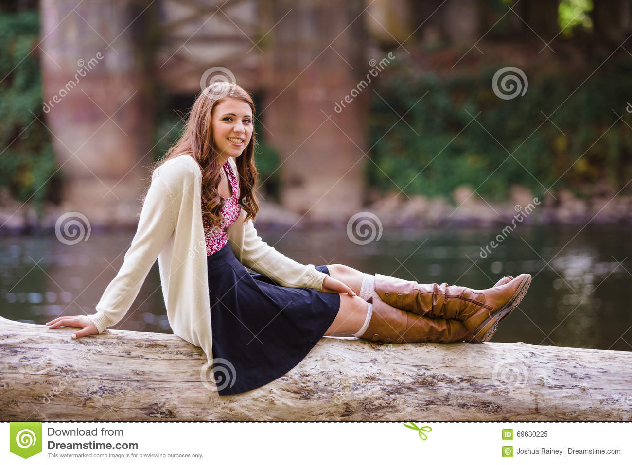 high school senior portrait outdoors stock image image of people