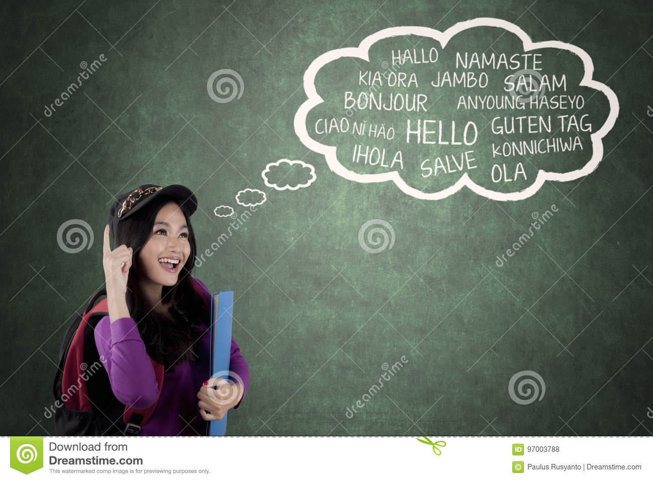 High School Student Learning Multilingual Stock Photo
