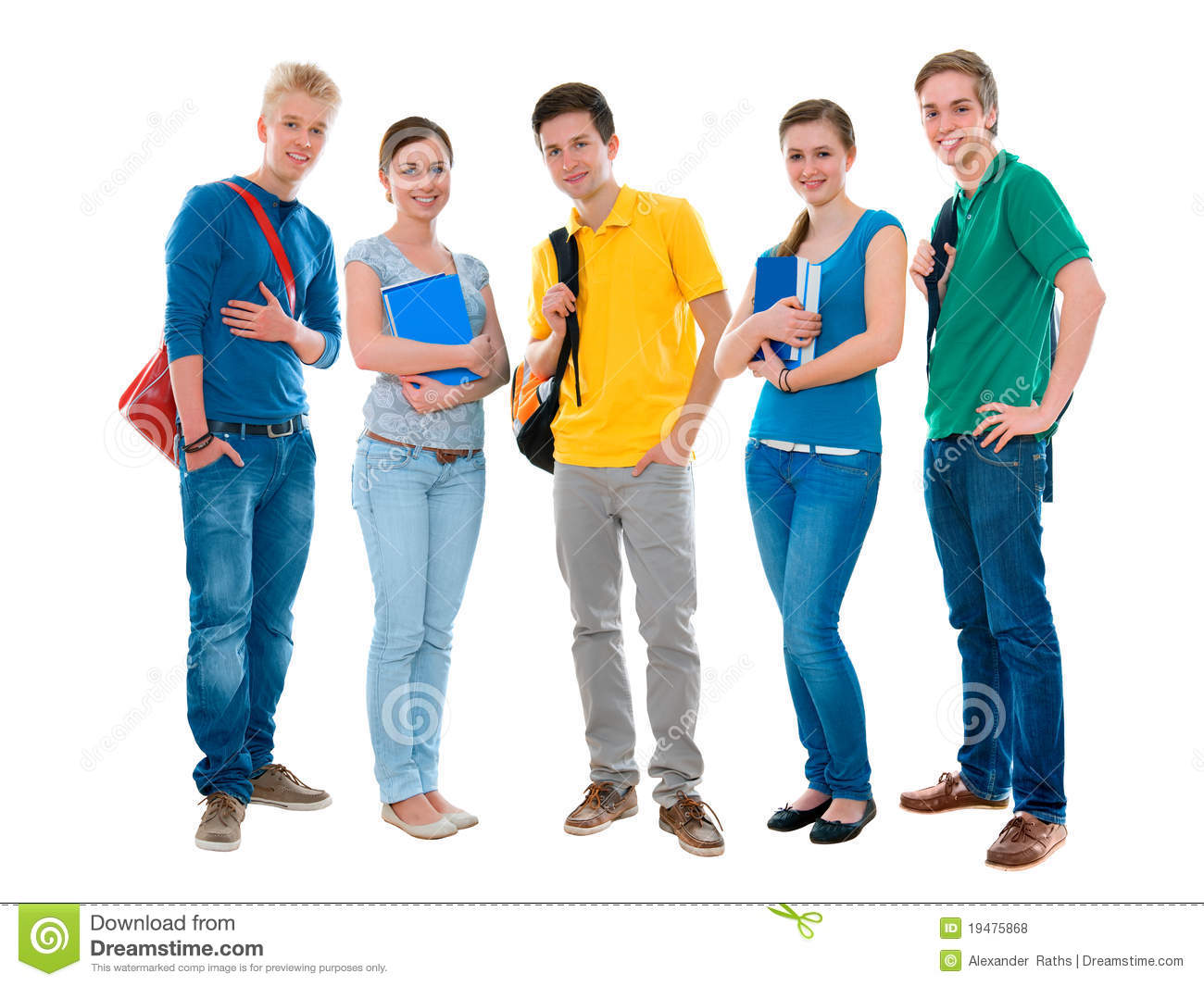 High School Students Stock Photo Image Of Male Cooperation 19475868