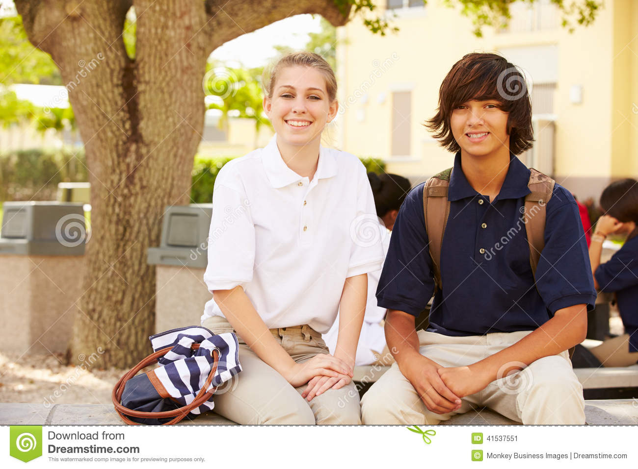 high school students and uniforms When you think of school uniforms, what pops into your head do you automatically think of catholic school students with their plaid skirts and knee-high socks.