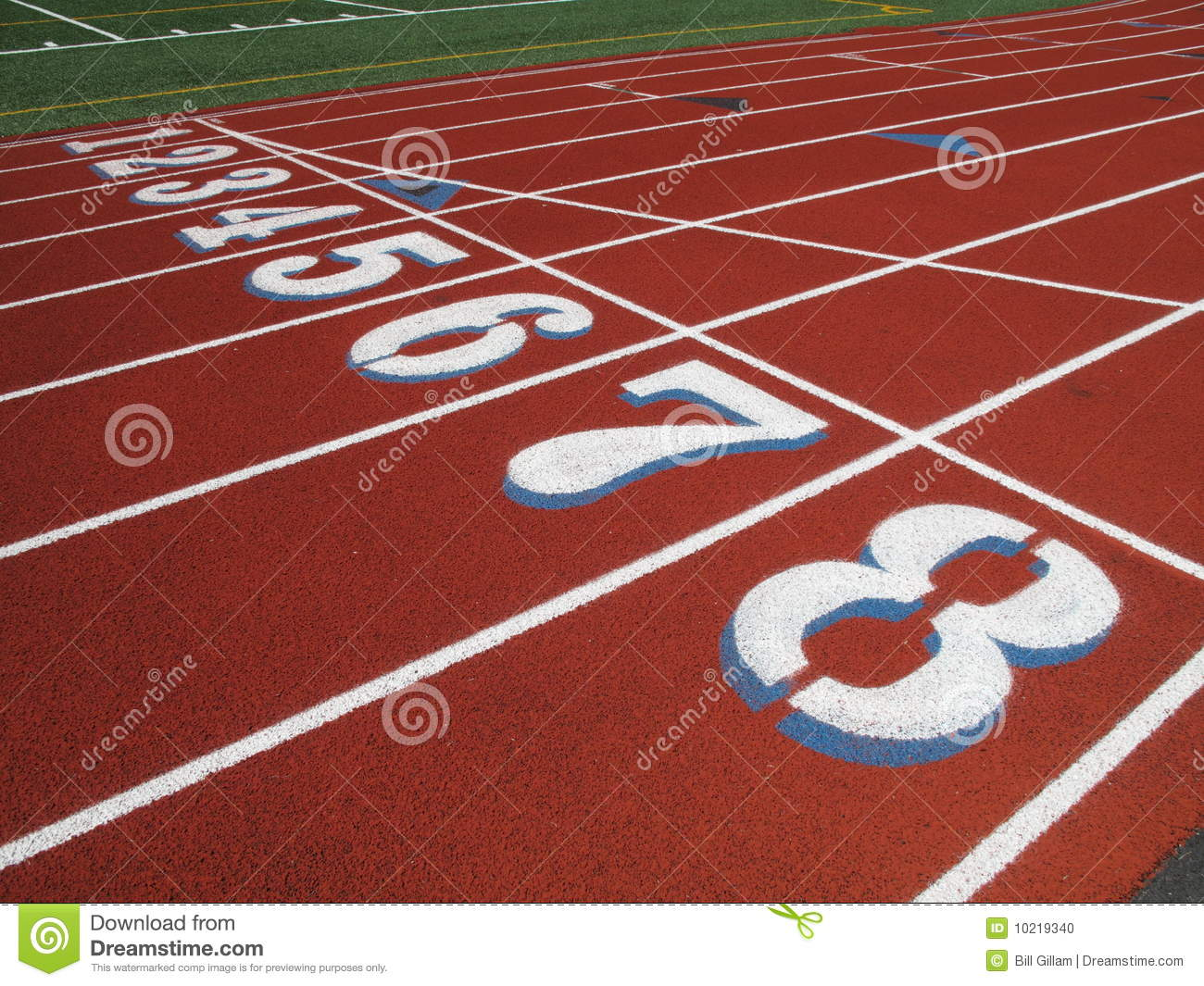 Http Www Dreamstime Com Stock Photo High School Track Starting Line Image10219340