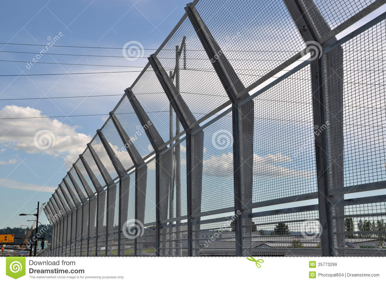 High Security Fence Stock Image Image Of Spikes Secure