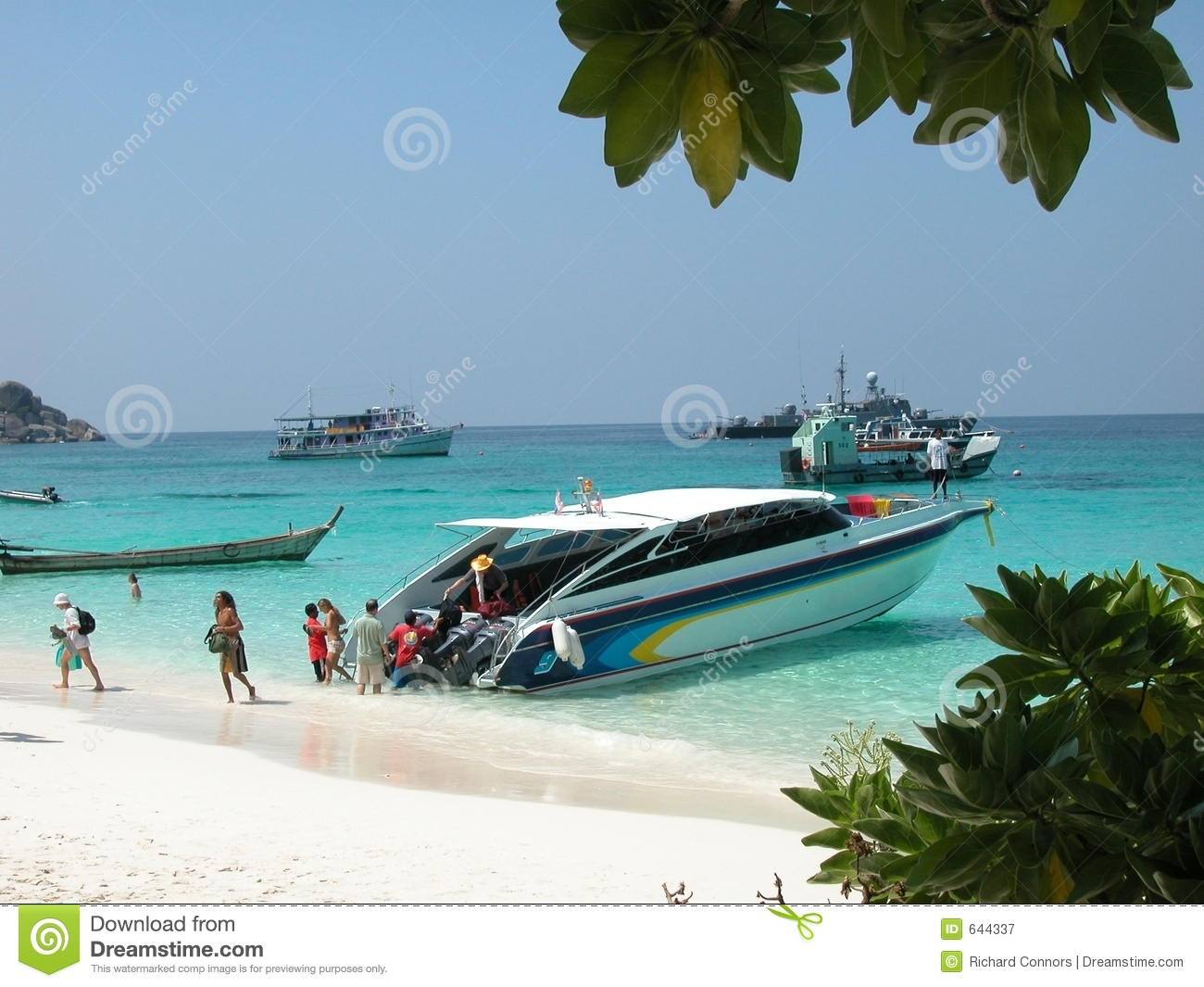 High speed boat at Similan Island