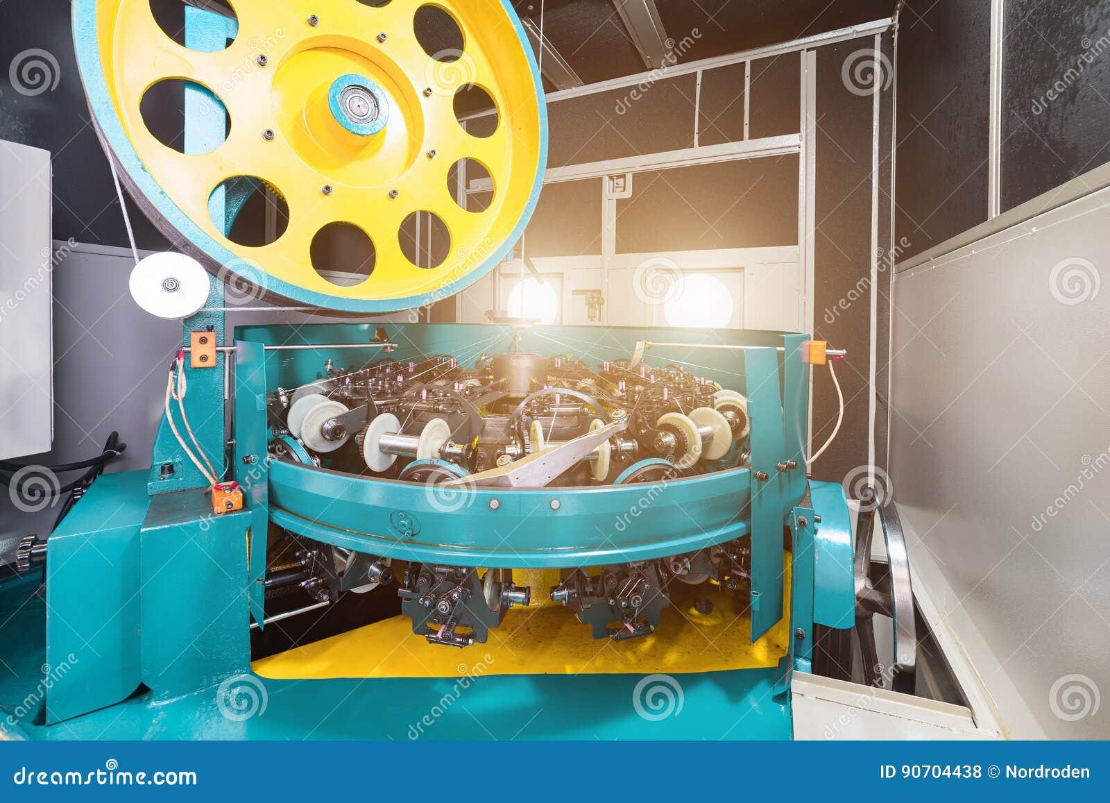 High-speed Braiding Machine. Stock Photo - Image of mechanism, open ...