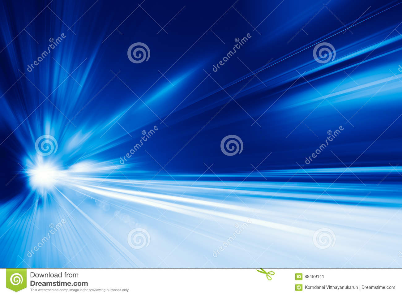 High speed business and technology concept, Acceleration super fast speedy car drive motion blur.