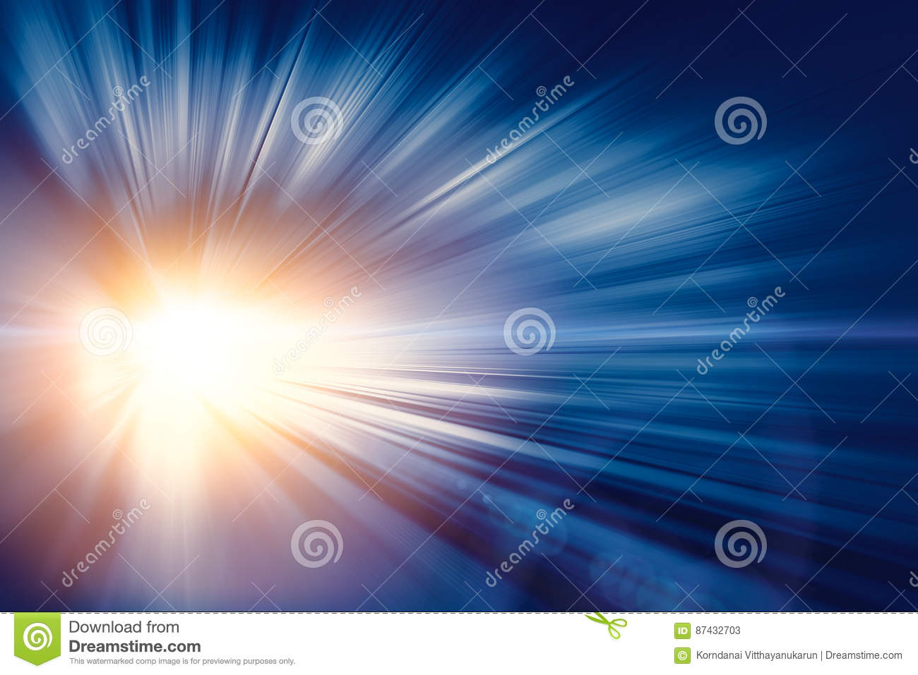 High speed business and technology concept, Acceleration super fast speedy motion blur abstract