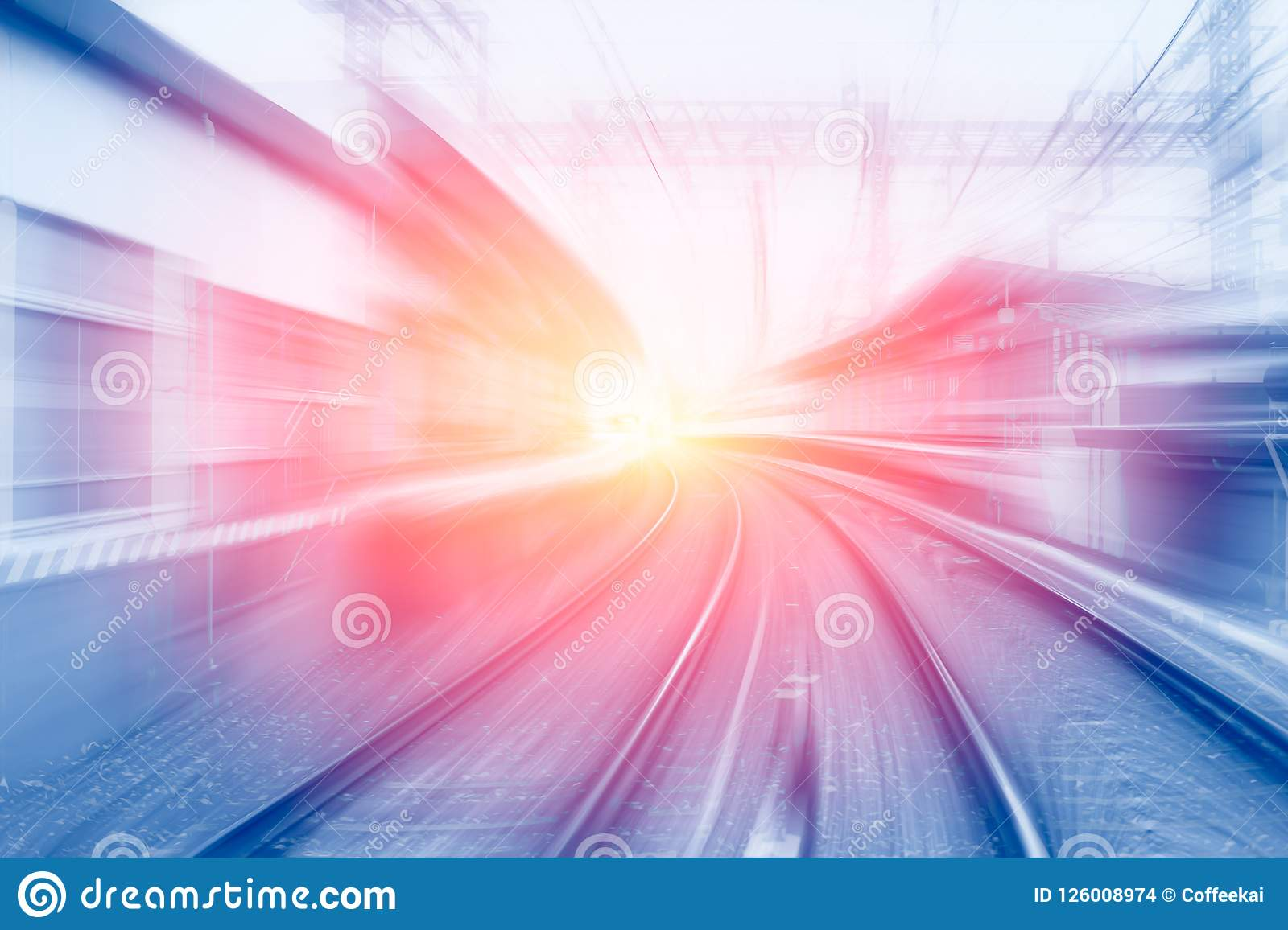 High speed business and technology concept, Acceleration super fast speedy motion
